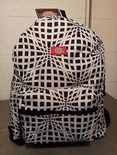 dickies school backpack black and white optical