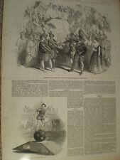 Rossini Opera La donna del lago a Covent Garden Londra 1847 old print ref S