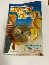 Vintage Light Up Yoyo in package Red clear Tony