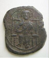 Rare JESUS CHRIST Class D Anonymous Ancient XI century Byzantine Follis Coin