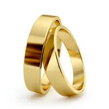 AURITUM 1 Paar Trauringe, Eheringe aus Gold 333/585/750, 4mm, Gravur, TOP
