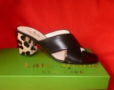 $298 Kate Spade Denault Italy Leather Calf Hair Leopard Slides 8 NWB SOLD