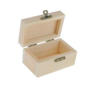 Schmuckschatulle aus massivem Holz mit Schloss Vintage Stil Aufbewahrungsbox