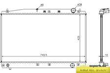 Kühler, Motorkühlung TOYOTA AVENSIS Liftback (_T22_) 2.0 D-4D