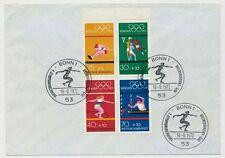 Bund Olympiade H-Blatt 22 auf Umschlag mit SST (18422)