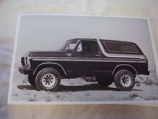 1978 FORD BRONCO    11 X 17  PHOTO   PICTURE