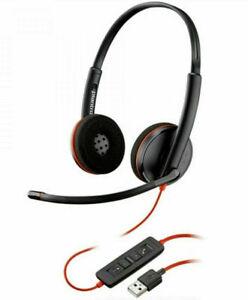 Plantronics BlackWire C3220 USB Headset with Microphone