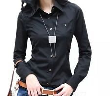 Ladies Long Sleeve  work Top Womens Shirt Office Blouse Business Top Size 6