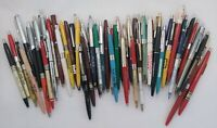 Vintage Lot Of 55+ Vintage ADVERTISING Clicker Ballpoint Pens Various Ages