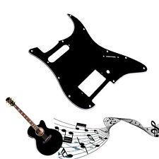 3Ply Guitar Pickguard For Fender Stratocaster Strat HS Single Humbucker Black