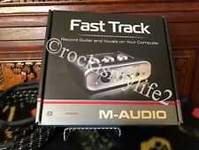 NOS M-Audio Fast Track Digital Recording Interface guitar-vocals on computer