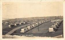 Los Angeles CA Olympic Village Sent by Olympian? RPPC Postcard