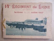 ALBUM PHOTOTYPIES 24 PHOTOS 14 me REGIMENT DE LIGNE LIEGE JUILLET 1907. GELLY A.