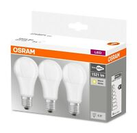 3er-Pack Osram LED BASE A100 E27 14W 2700K Warmweiß = 100W Glühbirne