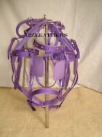 Exclusive Purple Synthetic/Nylon Driving harness for single Horse cart-in 4 size