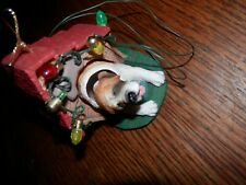 Vintage Christmas St. Bernard Christmas Ornament, 2.5 x 3 x 3 in.