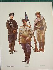 VINTAGE WW1 WWI PRINT RUSSIA CAPTAIN GENERAL STAFF SALONIKA POLKOVNIK MONASTIR