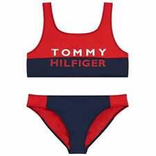 Tommy Hilfiger Mädchen Fett Schwimmen Bralette/Bikini Set, rote Blendung