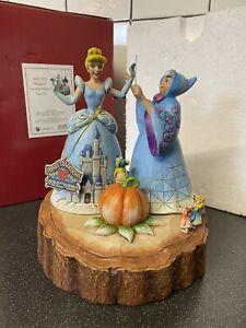 "Disney Traditions Cinderella Castle MAGICAL TRANSFORMATION Showcase V Rare 8.5"""