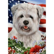 Patriotic (1) House Flag - Blue Glen of Imaal Terrier 16214