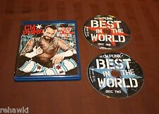 WWE: CM Punk - Best in the World (Blu-ray Disc, 2012, 2-Disc Set)