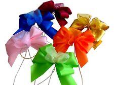 3 Piece Finished Taffeta Ribbon Bow/Organza Gift Loop Bellaz Ziergummiband