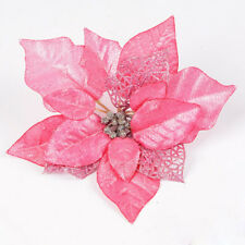 5 pc Christmas Flower Tree Decoration Glitter Hollow Wedding Home Party Decor N