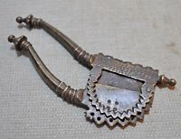 Original Old Antique Hand Crafted Engraved Brass Peacock Betel Nut Cutter Sarota