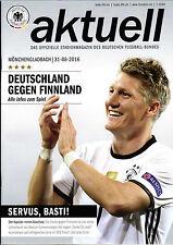 Länderspiel 31.08.2016 Deutschland - Finnland + Poster Bastian Schweinsteiger