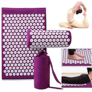 Massager Cushion/Massage Yoga Mat Relieve Stress Back Lotus Body Pain Fitness AU