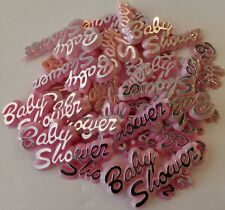 144pcs Baby shower signs in pink. Keepsake favor,games,decoracion,table scatters