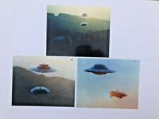 Set of 3 Rare Billy Meier Pleiadian UFO Contact Flying Saucer 8X10 Photo Lot