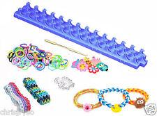 NEW DIY Loom Band Bracelet Making Kit - 600 Rubber Bands, 25 S Hooks + 6 Decals
