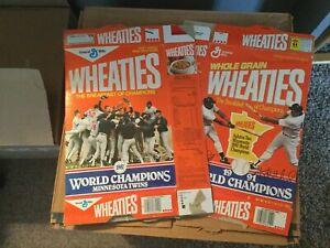 Wheaties Cereal Box Minnesota Twins 1987 & 1991 MLB World Champion Puckett Hrbek
