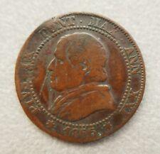 Monnaie en cuivre 1 soldo—1/20e Lire—Pius IX (Pie IX)—Etats pontificaux—1866