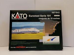 NIB KATO N Scale 10719-2 Euromed Serie 101 Set 10 pcs w/ UNITRACK Display