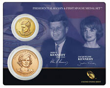 John F. Kennedy 2015 Presidential $1 Coin & First Spouse Medal Set - In Hand