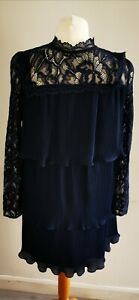 Very navy coctail dress size 10 long sleeve