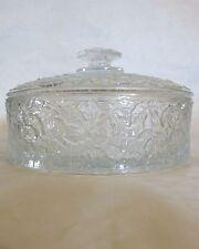 Westmoreland Glass Bramble Maple Leaf Crystal Candy Dish
