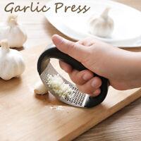 Manual Garlic Presser Grinding Slicer Stainless Steel Grater Kitchen Tool