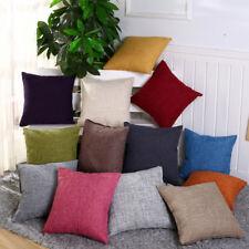 Modern Cotton Linen Pillowcase Car Chair Home Decor Sofa Cushion Cover 45x45cm