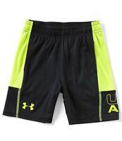 NEW Under Armour Little Boys Stunt Shorts Black/Yellow Choose Size