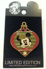 Disney WDW Christmas Minnie Mouse Holiday Ornament Surprise Release LE Pin