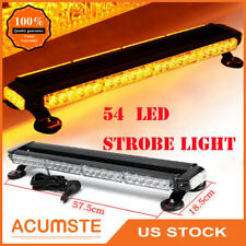 "26.5"" Amber 54 Led Traffic Advisor Emergency Warn Flash Strobe Light Universal"
