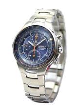 SEIKO Criteria Chronograph SND489 SND489P1 Men Blue Dial Stainless Steel Watch