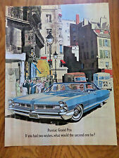 1965 Pontiac Grand Prix Ad If you had Two Wishes What 2nd One Be?   AF/VK