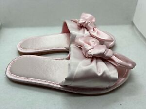 *NEW* Pink Sandals with Bow Comfy Slides Size Small Eu 35-36 US Womens 5 DEFECT