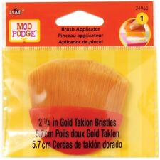 Mod Podge Brush Applicator 2.25 Gold Taklon 028995249600