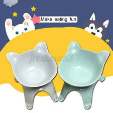 Pet Cat Bowl Food Water Feeder Dog Feeding Dish Elevated Raised Stand Holder