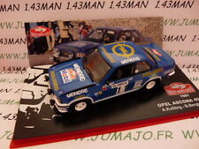 voiture 1/43 IXO altaya Rallye Monte Carlo OPEL ASCONA 400 #11 1981 bleu
